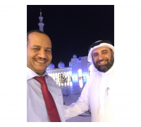 After evening prayers at Sheikh Zayed Grand Mosque with my brother and friend Mr. Mousa Al Mousa - CEO of Abdulrahman bin Saleh Al Rajhi Charitable Foundation - Abu Dhabi (5th November 2015)