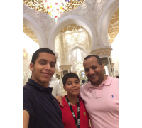 With Khaled and Abdul Rahman, companions and friends of the present and the future - Sheikh Zayed Grand Mosque - Abu Dhabi - 1st Ramadan  (18th June 2015)